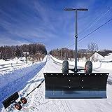 Heavy Duty spazzaneve, professionale mano Pusher solido pala da neve con ruote e altezza regolabile Push bar, in acciaio anti ruggine rimozione della neve Outdoor Garden Snow strumenti di pulizia
