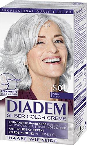 Schwarzkopf Diadem Seiden-Color-Crème, S01 Perl-Silber Stufe 3, 3er Pack (3 x 142 ml)