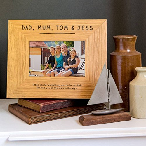 Personalised Daddy Photo Frame - Personalised Daddy Gifts - Dad Picture Frame - Fathers Day Present Idea from Son and Daughter - 6x4 / 7x5 / 8x6 Frames Available