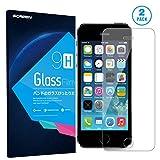 Protector de Pantalla iPhone SE/5S/5/5C, TUGOO Alta Definicion 9H Dureza 3D Touch Vidrio Templado para Apple iPhone SE/5S/5/5C