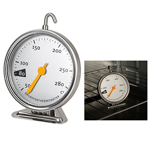 Itian Backofenthermometer Edelstahl Ofen Thermometer Küche Backen Werkzeug Ofenthermometer 50–280 Grad