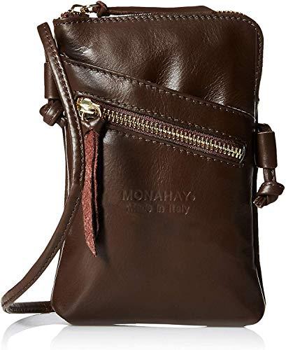Leder Mini Handtasche (italienische Leder Handy Schultertasche,Handytasche, reisePass Umhängetasche, Kleine Umhängetasche für Damen Mini Sack Mädchen Frauen (dunkelbraun))