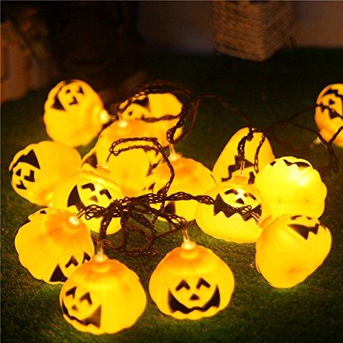 GroßZüGig Ledgle Halloween Lichterkette 6m Solar Halloween Dekoration Licht Warmes Weiß, Garten & Terrasse