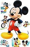 Unbekannt 7 TLG. Set _ Wandtattoo / Sticker -  Mickey Mouse  - Wandsticker + Fenstersticker - Aufkleber für Kinderzimmer - Maus Playhouse / Jungen & Mädchen - Kinder ..