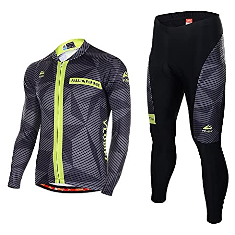 Asvert Mens Cycling Clothing Sets Jacket Breathable Bicycle Pants Casual
