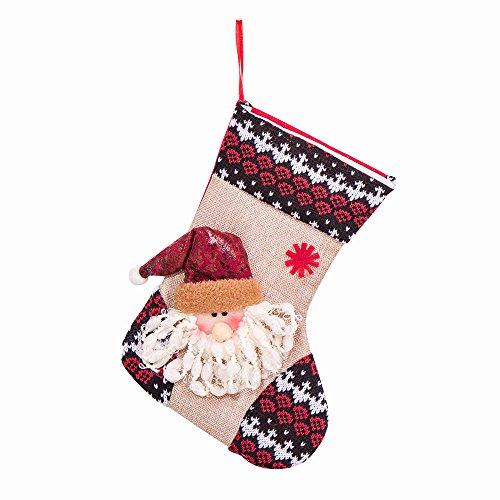 LoveLeiter Mädchen Junge Frohe Weihnacht-Plüsch-Baum-hängendes Geschenk-Süßigkeit-Kleine Socken-Dekoration Kreatives Geschenk (A) -