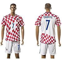 Generic 2016 2017 Croacia 7 Ivan RAKITIC Home Jersey de fútbol en rojo, ...