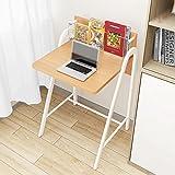 Schreibtische HAIZHEN Computer Holz-Innenministerium für Kleine Plätze PC-Arbeitsstation-Büro-Möbel Klapptisch (Farbe : Light Walnut)