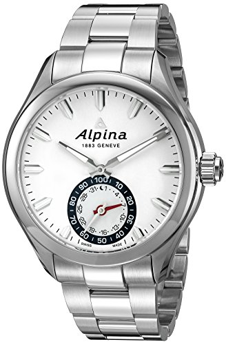 Alpina Men's Horological Smartwatch 44mm Steel Bracelet & Case Quartz Silver-Tone Dial Watch AL-285S5AQ6B
