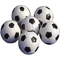Balones de futbolín de NiceButy, minipelotas de repuesto, de plástico, blancas y negras