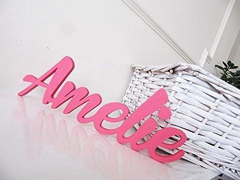 Amelie, letreros avec votre personnalisation pour garçons ou filles, affiches de noms, letreros avec votre personnalisation pour portes, decoracciónes pour chambre, letreros pour la salle des enfants, cadeaux avec votre personnalisation, Mia Workshop