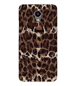 FUSON Leopard Fur Background 3D Hard Polycarbonate Designer Back Case Cover for Meizu M2