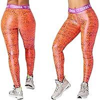Zumba Fitness Zumba Has My Heart Metallic Leggings Coral Craze M