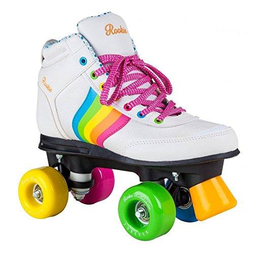 Rookie Forever Rainbow V2Patins à 4roulettes, unisexe, enfants, Forever Rainbow V2, Blanc/multicolore
