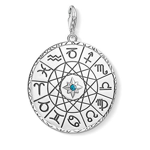 Thomas Sabo Herren Damen-Anhänger Sternzeichen Coin silber 925 Sterling Silber Y0037-878-21