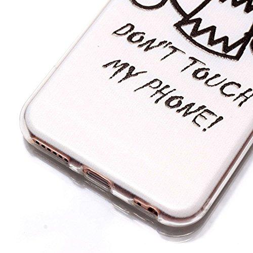 JAWSEU Coque Etui Housse pour iPhone 6/6S 4.7,iPhone 6S Étui Transparent en Silicone,iPhone 6 Case Tpu Bumper,Cristal Clair Soft Tpu Gel Protective Case Cover Mode Beau lovely Mignonne Joli Motif Créa fantôme/tpu