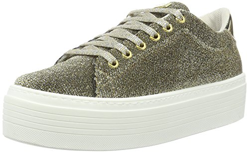Guess Bernie, Scarpe Low-Top Donna, Oro, 38 EU