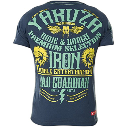 Yakuza Premium T-Shirt YPS-2110 Blau Blau
