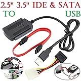 Wokee 2.5 / 3.5 SATA / IDE Laufwerk zu USB 2.0 Adapter Konverter Kabel für 2,5