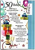 Geburtstagskarte zum 50. Geburtstag, Jahrgang 1968, für Herren-