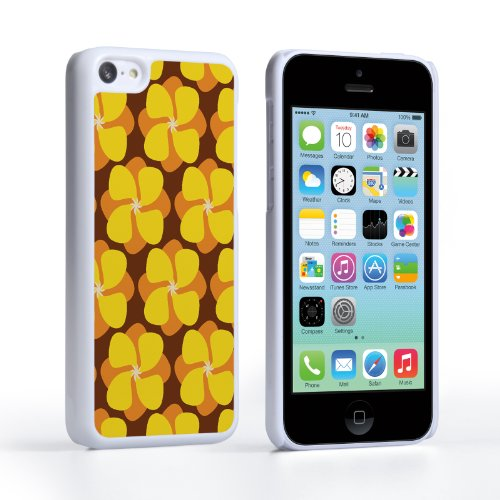Caseflex Coque iPhone 5C Etui Jaune Bouton d'or Dur Housse