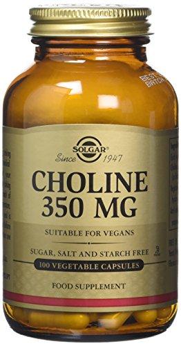 Solgar 350 mg Choline Vegetable Capsules - Pack of 100 Test