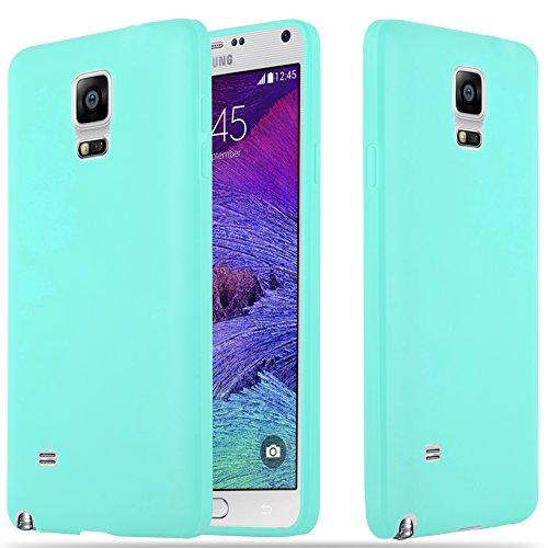 Samsung Galaxy Note 4 - Hülle in Candy BLAU - Handyhülle aus TPU Silikon im Candy Design - Silikonhülle Schutzhülle Ultra Slim Soft Back Cover Case Bumper ()