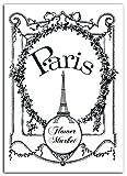 Mademoiselle Toga mem302Transferbrett, Motiv Vintage Paris Stoff Kunststoff Beschichtetes zum Aufbügeln schwarz 15x 21x 0,1cm