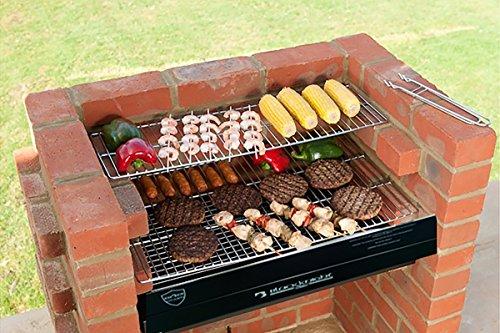 BLACK KNIGHT KIT de barbacoa de ladrillos de acero inoxidable para cocinar parrilla, para calentar y funda