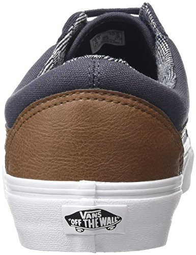 Vans Old Skool Scarpe da Skater, Basse, Unisex, Adulto Grigio (C&L periscope/true white)