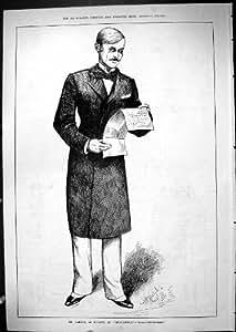 Antique Print of 1881 Portrait Mr Carton Durant Imprudence Theatre Actor
