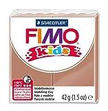 Staedtler FIMO Kids, Pâte à modeler marron clair pour enfants, Extrêmement souple et malléable, Durcissant au four, Pain de 42 grammes, 8030-71