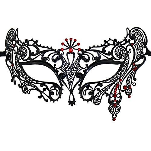 Fashion Laser geschnitten Strass Metall venezianischen Cosplay Party Masquerade Maske (Masken Für Masquerade Party)