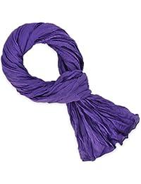 Chèche coton violet uni