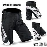 MTB Ciclismo off Road Pantaloncini Discesa Unisex Design Nero/Mimetico m-l-XL-2x L, Nero, M