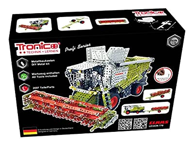Metal Construction Model Kit, CLAAS LEXION 770, Combine, harvester, 2356 parts, Tronico© Germany, including tools, metal mechanical construction, kids metal kits, metal mechanics kits