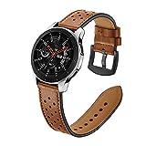 Wokee Armband, Gear Frontier/Classic Uhrenarmband 46mm Premium Soft Echtes Lederband Echtes Lederarmband Ersatzarmband [Vintage Serie]für Samsung Galaxy Watch 46mm (Brown)