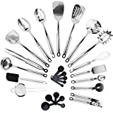 KRONENKRAFT® 26 teiliges Küchenset aus Edelstahl Küchenutensilien Set, Küchenzubehör, Kochset, Kochzubehör Set