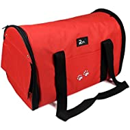 Nestling® Lightweight Strong Breathable Oxford Fabric Pet Dog Cat Puppy Travel Carry Carrier Tote Case Cage Tent Kennel Bag Crates (Large) 3 colours (Red)
