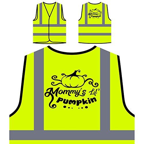 Mommys Lil Kürbis Personalisierte High Visibility Gelbe Sicherheitsjacke Weste t202v