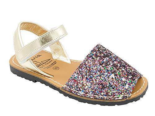 f145a334 Avarca - Fabricado en España - Sandalias de Piel auténtica con Velcro para  niños - Hermosas