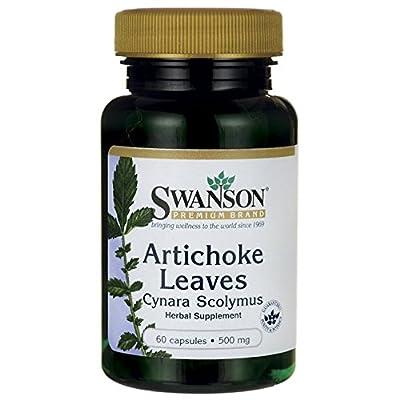 Swanson Artichoke Leaves Cynara Scolymus Capsules, 500 mg, 60-Count
