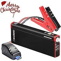 Booster Batterie - 1000A 18000mAh Portable Jump Starter,Demarreur de Voiture Externe Chargeurs Démarrage (jusqu'à 5.5-6.0L Gazole 6.5-8.0L Essence)