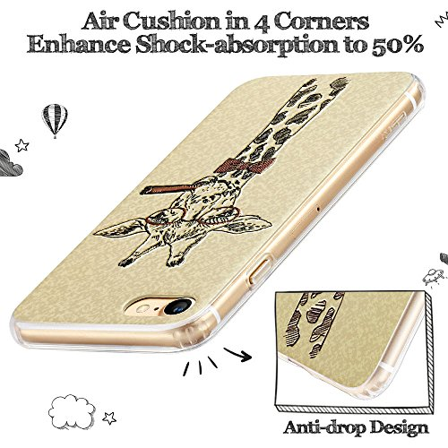 iPhone 7 Hülle (4,7 Zoll), ESR® Illustrator Seires Weiche TPU Rahmen + Hart PC Zurück Hülle Muster Schutzhülle für iPhone 7 (Paris) Paris