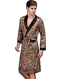 KAXIDY Mens Nightwear Dressing Gown Robe Bath Nightgown Sleepwear Bathrobes e2a7ab810