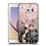 Head Case Designs Offizielle Elisabeth Fredriksson Rosa und Grau Gradient Kuben Kollektion Ruckseite Hülle für Samsung Galaxy S7