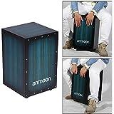 ammoon Boîte en Bois Tambour Cajon Tambour à Main Percussion Instrument Bois avec Pieds Stings Caoutchouc 30 * 31 * 48 cm