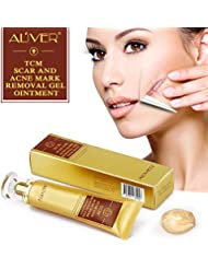 Aliver TCM Scar and Acne Marks Removal Cream Skin Repair Scars Burns Cuts Pregnancy Stretch Marks Acne Spots Skin Redness Treatment Cream Gel Ointment for Face and Body