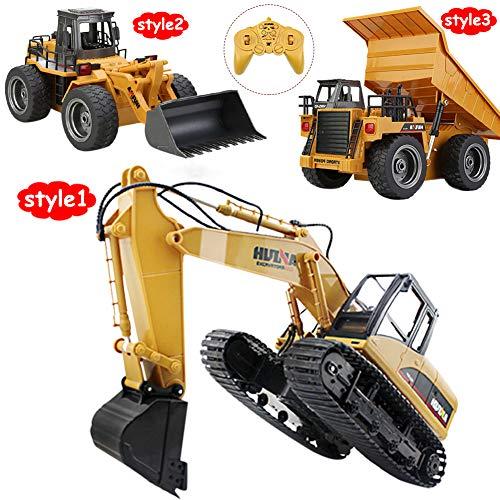 RC Auto kaufen Baufahrzeug Bild 4: omufipw 2,4 G Funksteuerung Bulldozer Frontlader Baufahrzeug Elektronisches Spielzeug RC Truck Traktor Junge Geschenk*