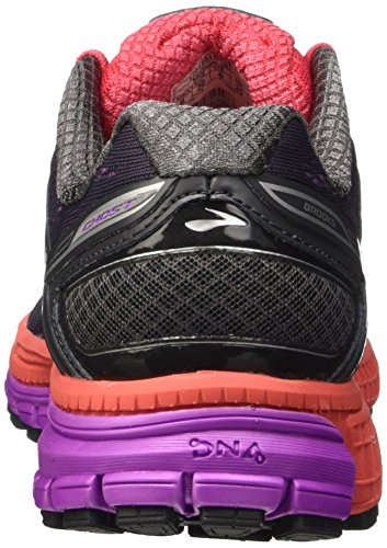 Brooks Ghost 8 W Scarpe da corsa, Donna Multicolore (Anthracite/Purple Cactus Flower)